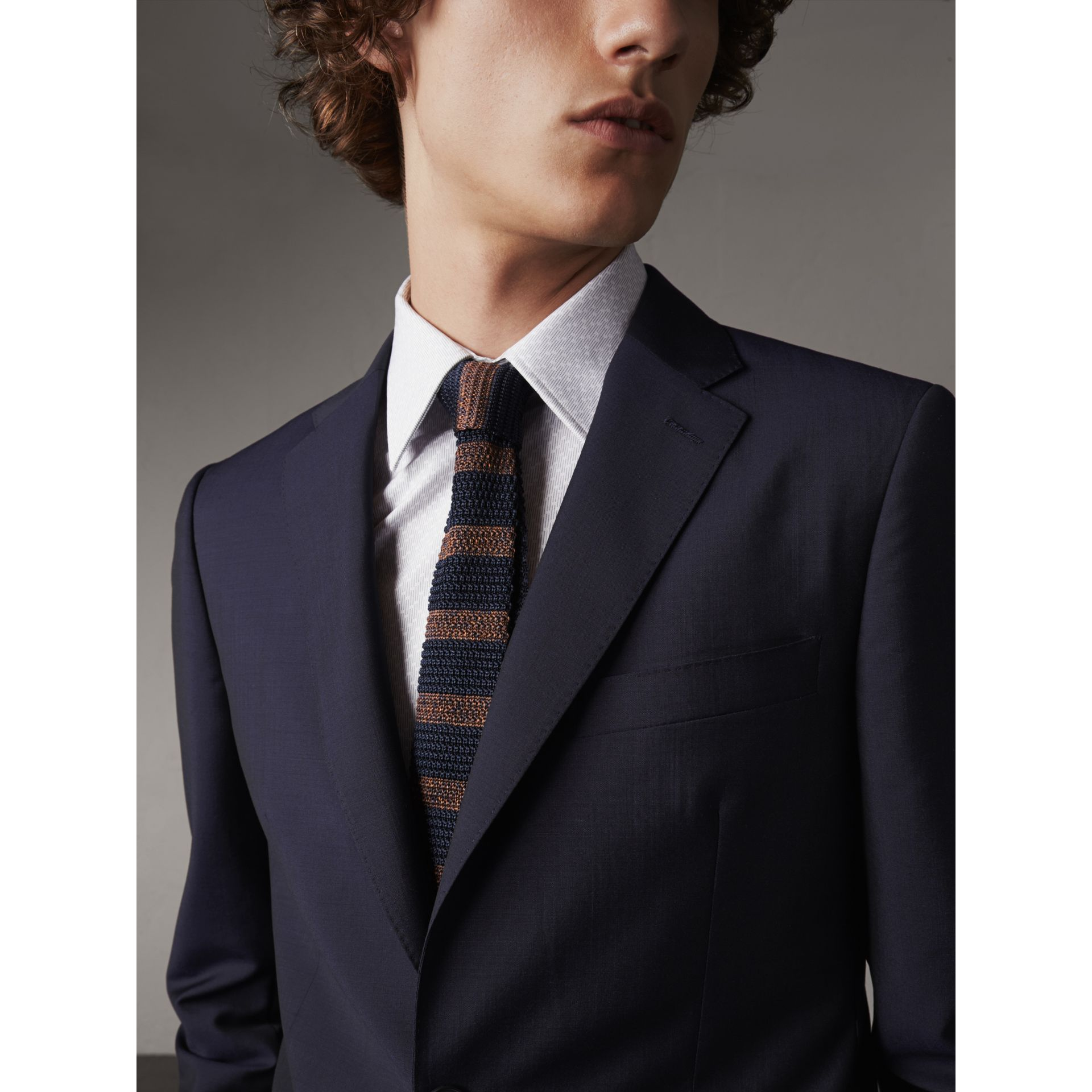 Soho Fit Wool Mohair Suit in Dark Navy - Men | Burberry - gallery image 5
