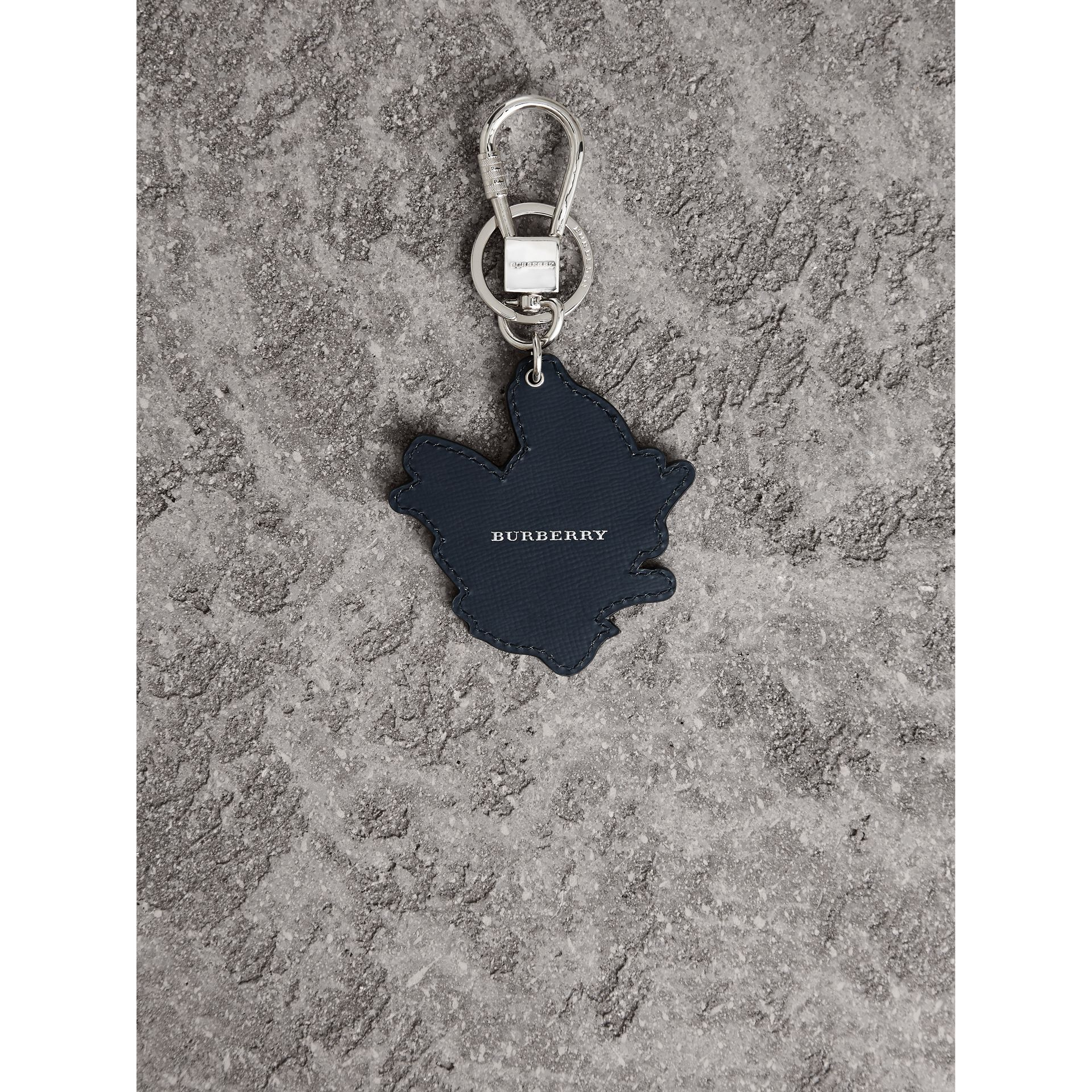 Beasts Leather Key Ring in Tan | Burberry - gallery image 3