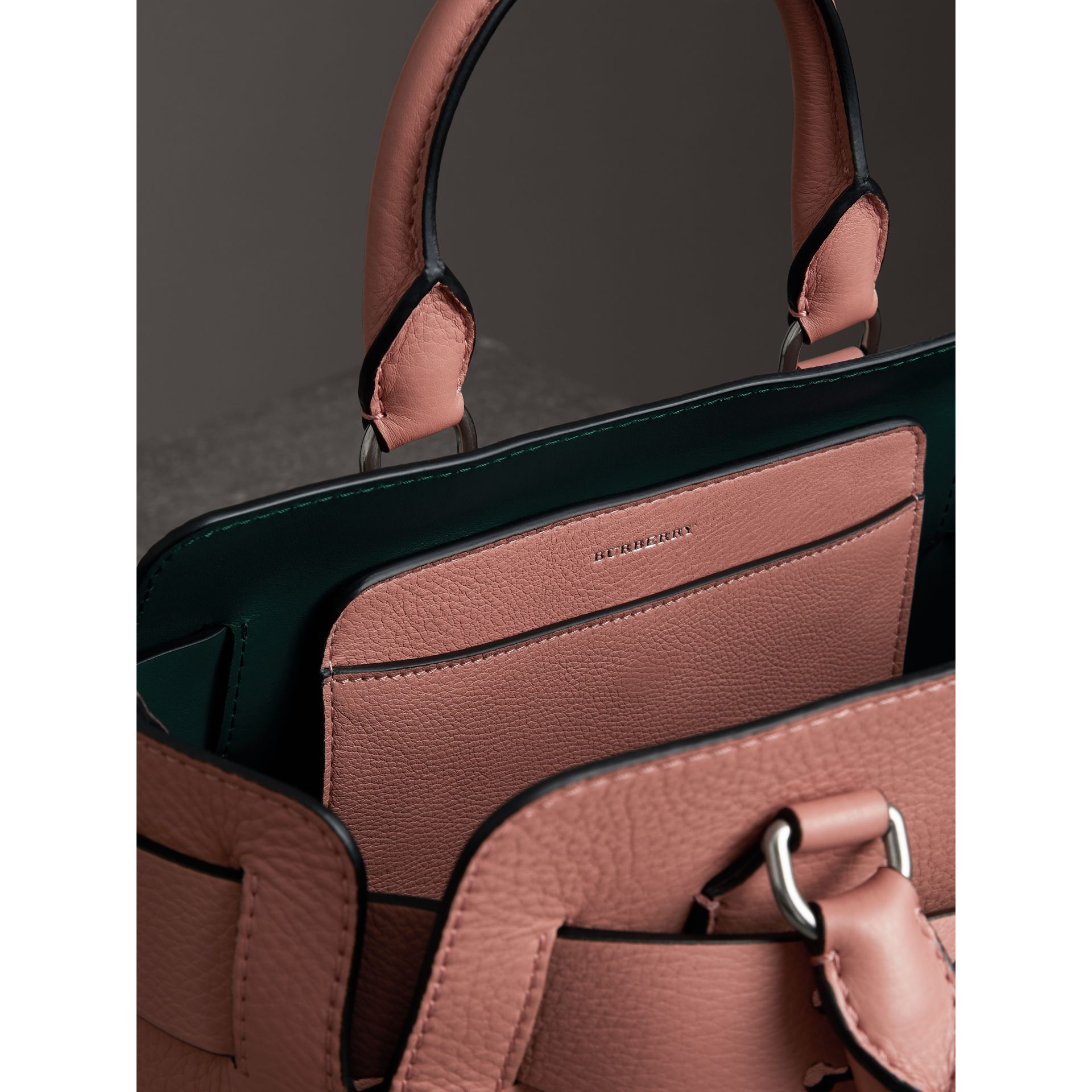 The Small Leather Belt Bag in Dusty Rose - Women | Burberry - gallery image 3