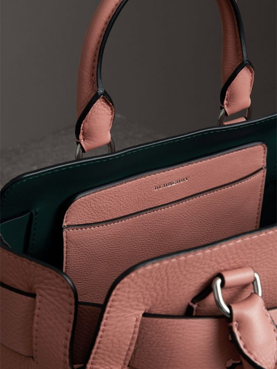 The Small Leather Belt Bag in Dusty Rose - Women | Burberry - cell image 3