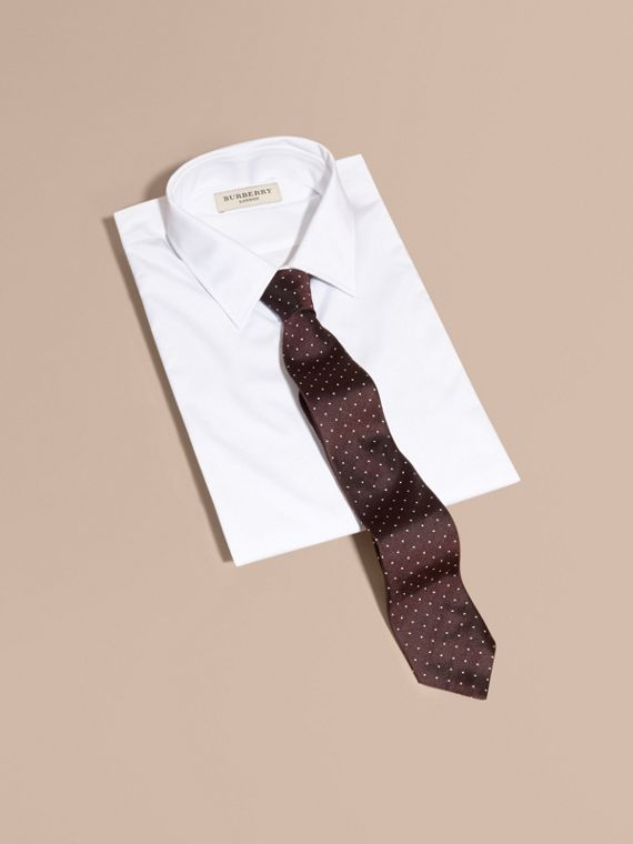 Modern Cut Polka Dot Silk Twill Tie - Men | Burberry - cell image 3