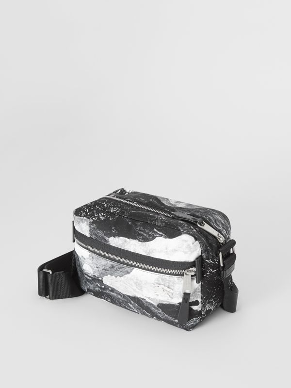 EKD Dreamscape Print Aviator Nylon Crossbody Bag in Black/white - Men | Burberry - cell image 3