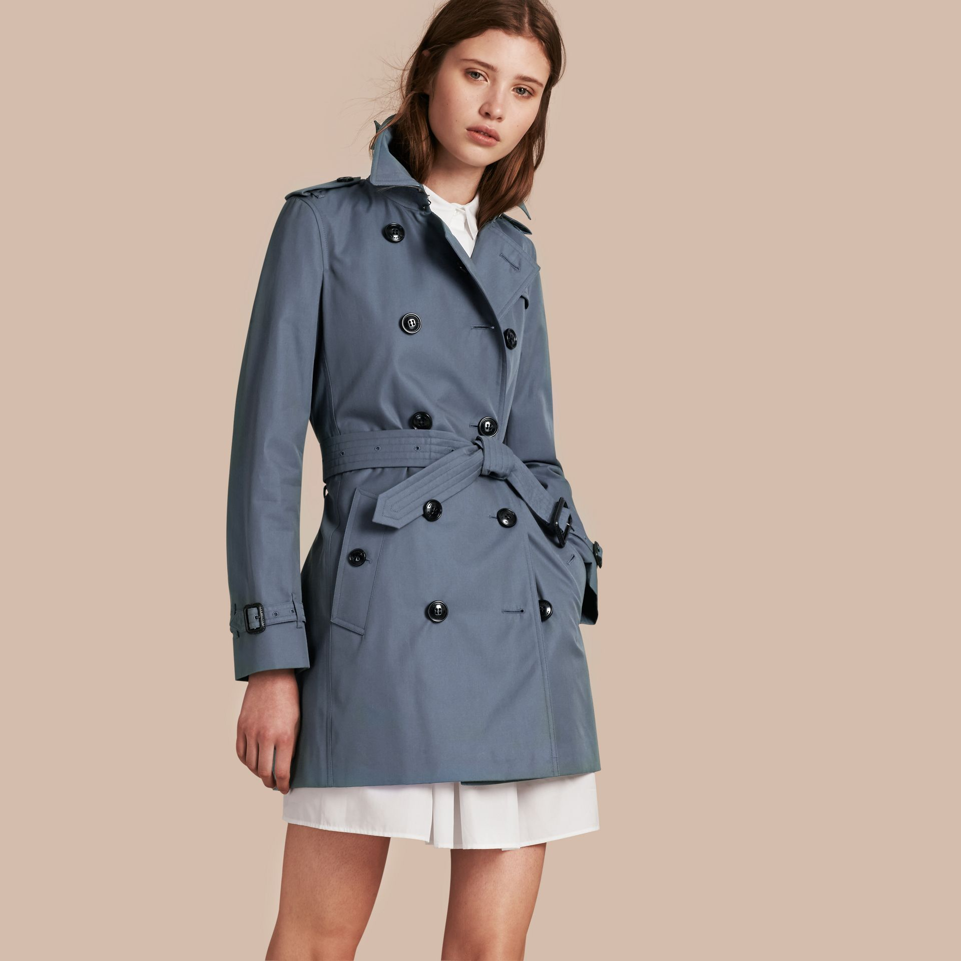 Empire blue Lightweight Cotton Gabardine Trench Coat Empire Blue - gallery image 1