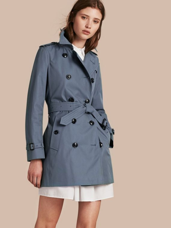 Lightweight Cotton Gabardine Trench Coat Empire Blue