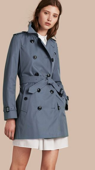 Lightweight Cotton Gabardine Trench Coat
