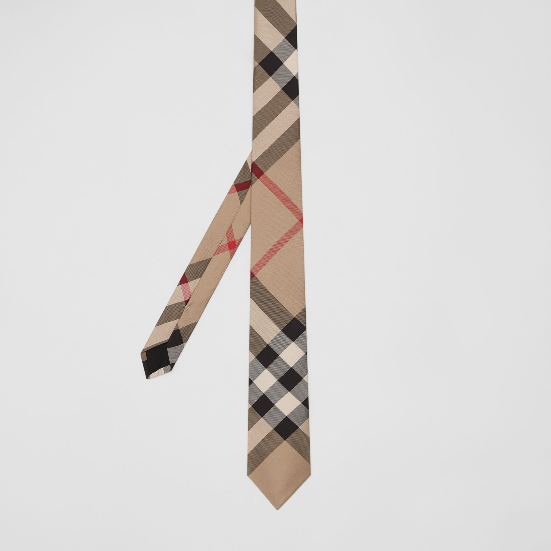 Classic Cut Check Silk Tie in Archive Beige - Men | Burberry Canada - gallery image 4