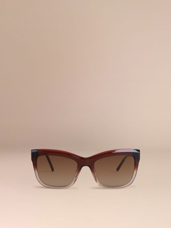 Dark military red Gabardine Lace Collection Square Frame Sunglasses Dark Military Red - cell image 2