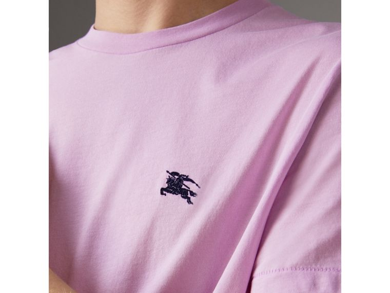 Cotton Jersey T-shirt in Pale Fuchsia - Men | Burberry - cell image 1