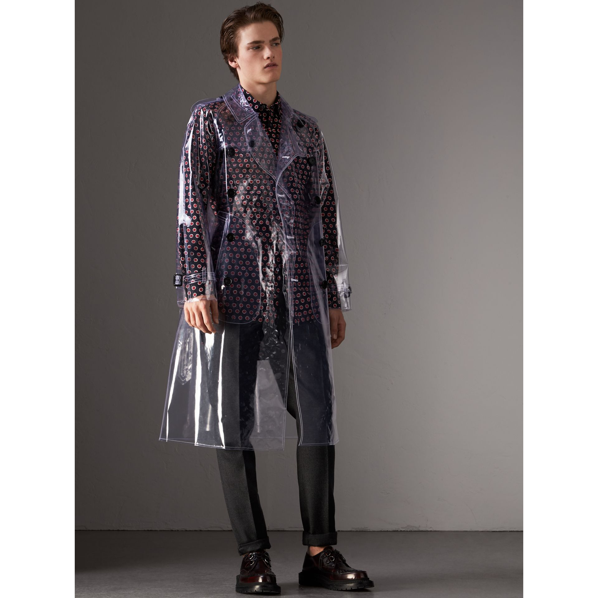 Trench en plastique (Cristal) - Homme | Burberry Canada - photo de la galerie 0