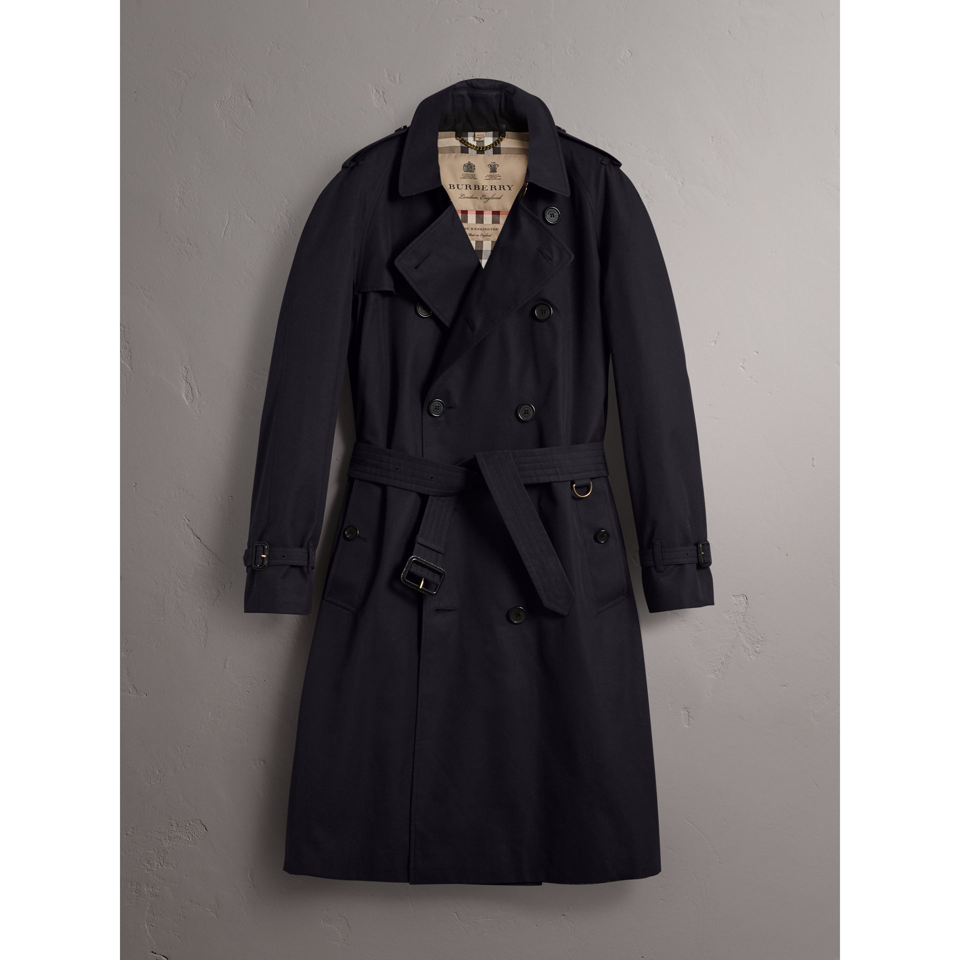 The Westminster – Extra-long Trench Coat in Navy - Men | Burberry Hong Kong - gallery image 4
