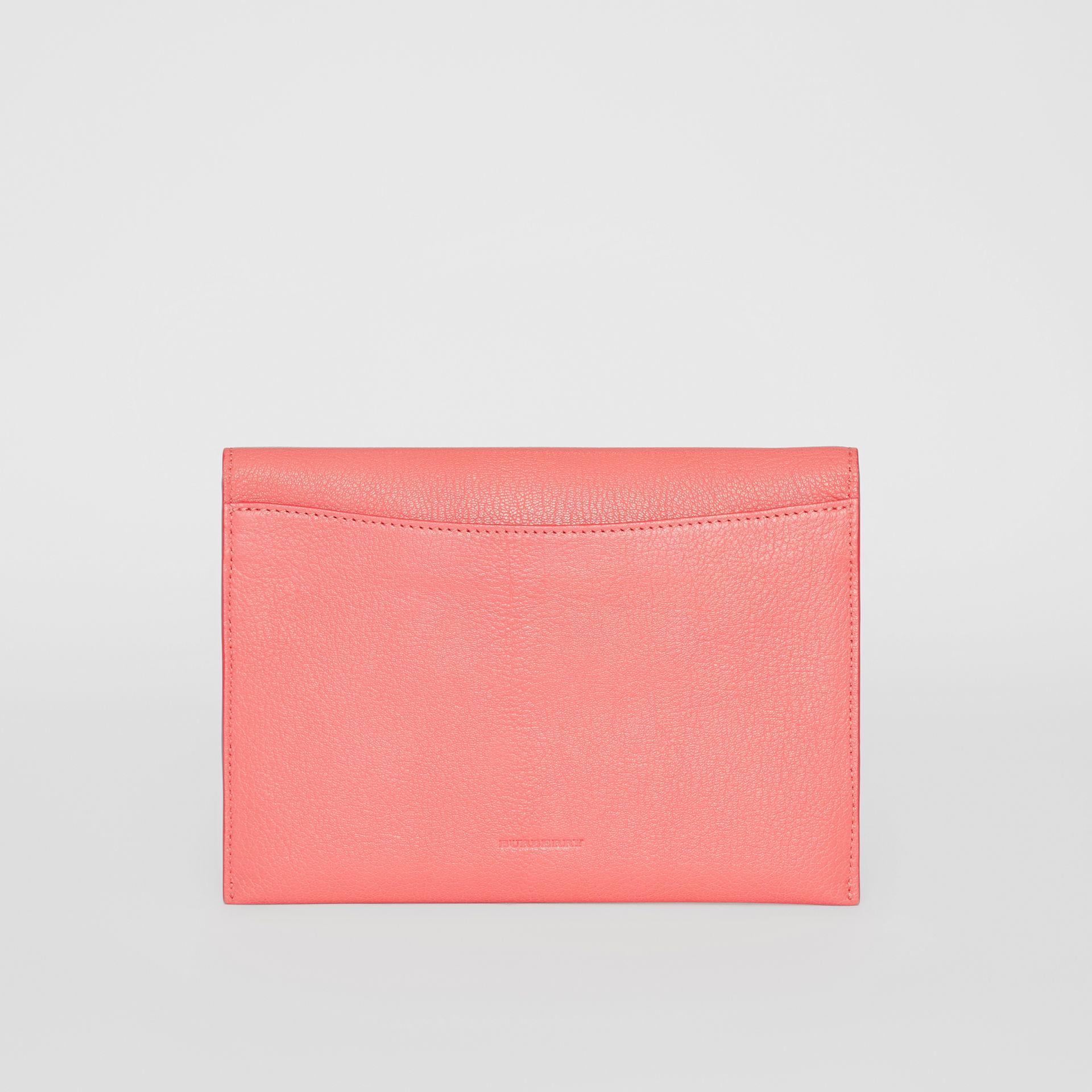D-ring Leather Pouch with Zip Coin Case in Bright Coral Pink - Women | Burberry - gallery image 8