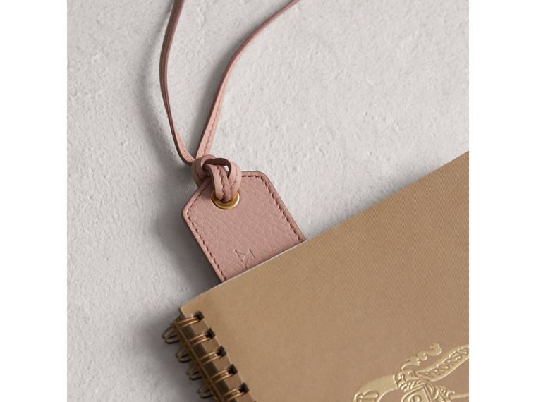 Embossed Leather Bookmark in Pale Ash Rose | Burberry - cell image 1