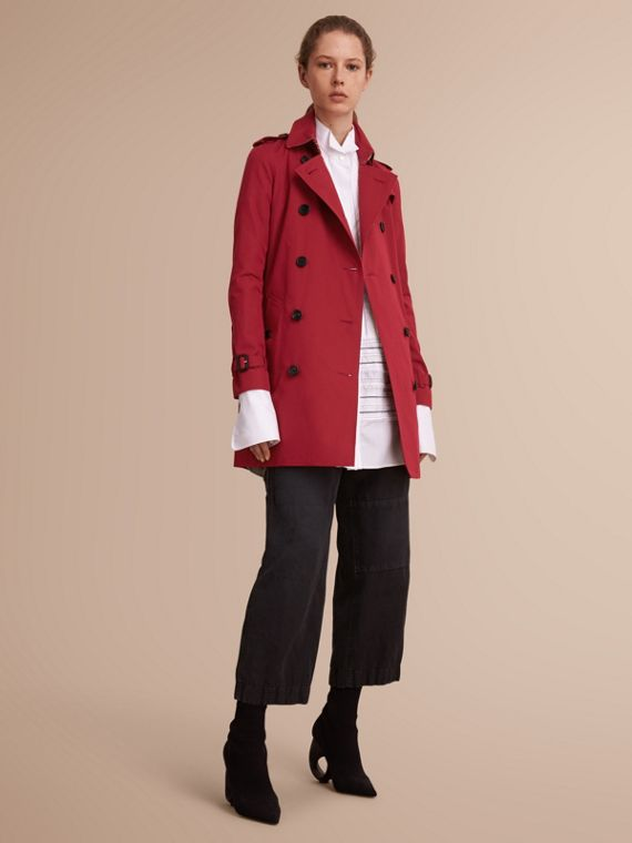 The Kensington – Mid-Length Heritage Trench Coat Parade Red