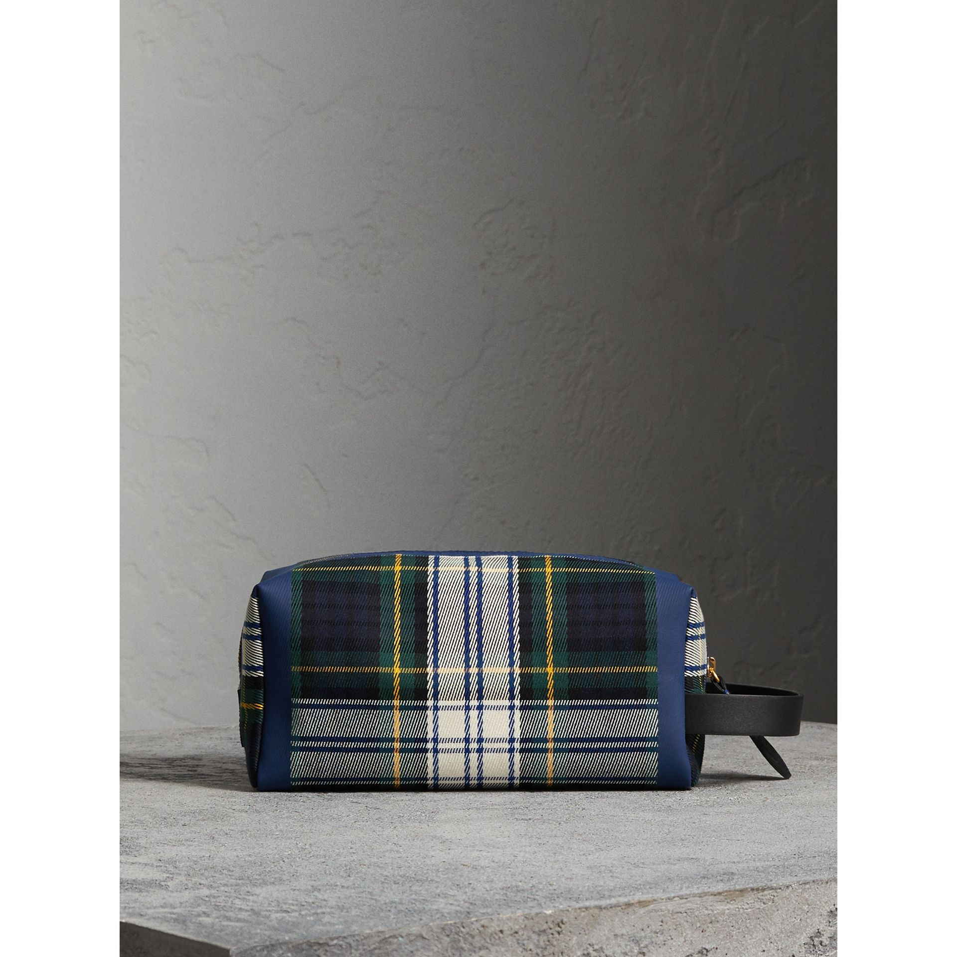 Tartan Cotton Pouch in Limestone | Burberry - gallery image 7