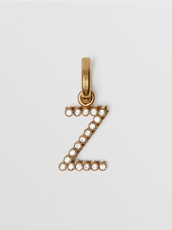 """Dije de alfabeto con cristales - Letra """"Z"""" (Cristal)"""