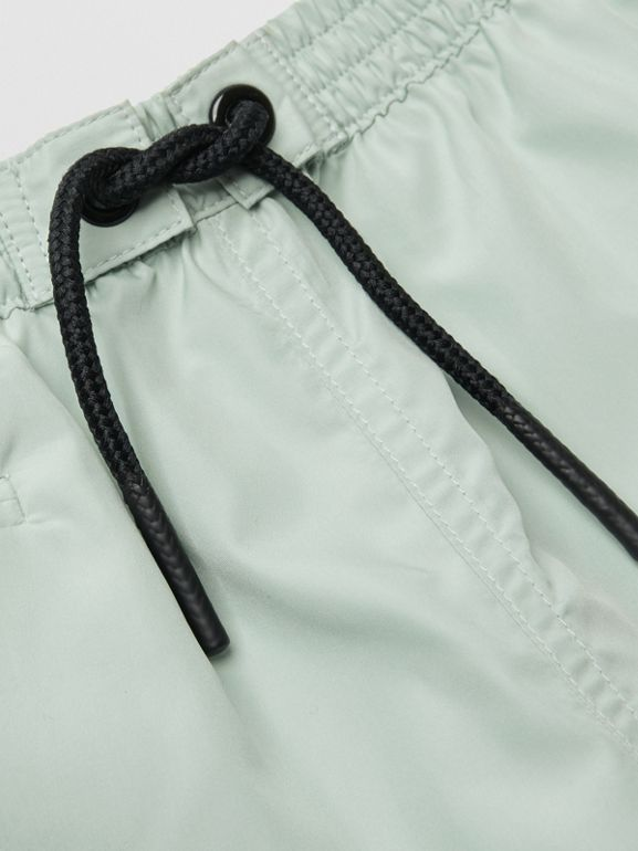 Logo Print Drawcord Swim Shorts in Pale Opal - Children | Burberry - cell image 1