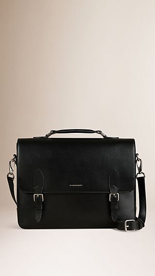 London Leather Messenger Bag