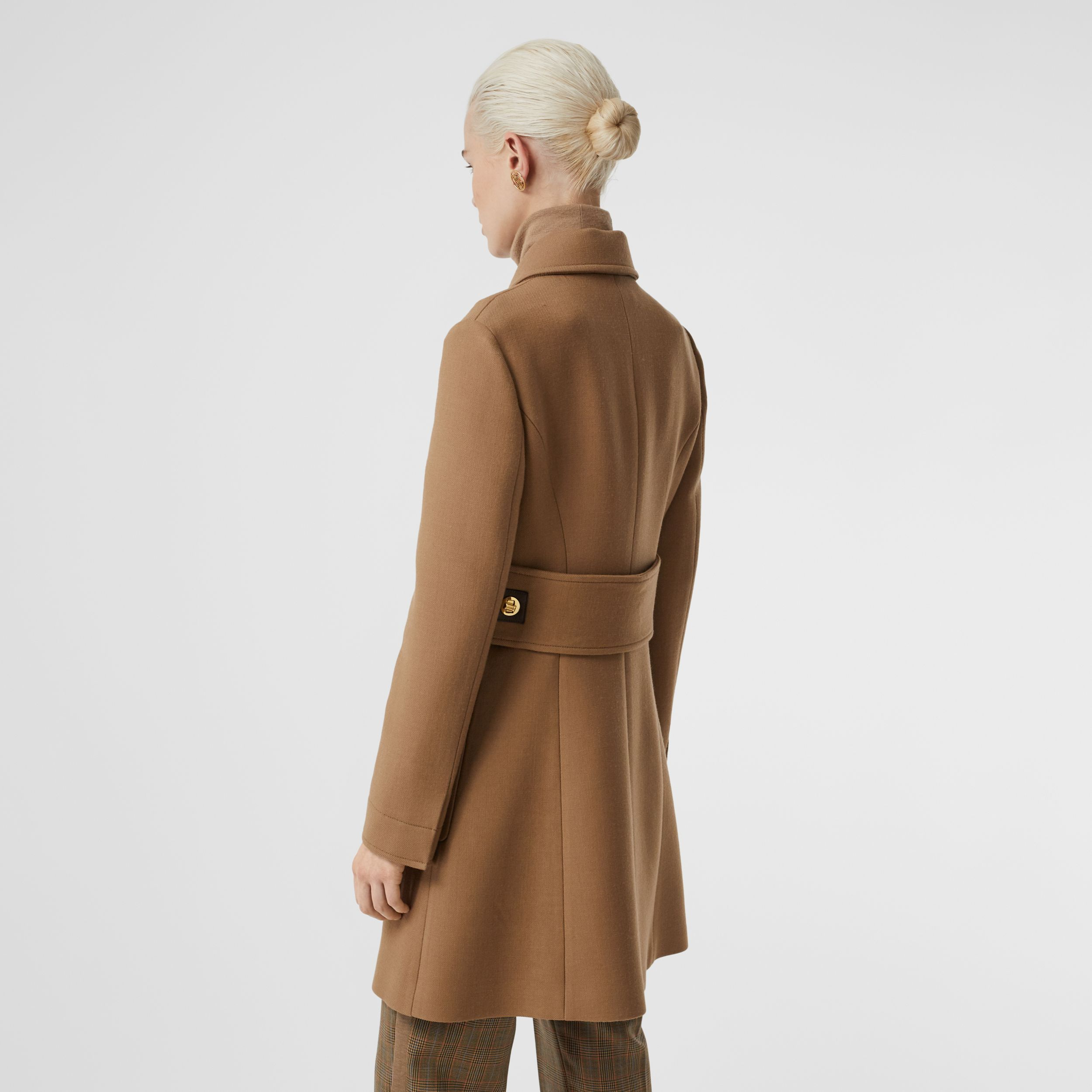 Double-faced Wool Tailored Coat in Fawn - Women | Burberry - 3