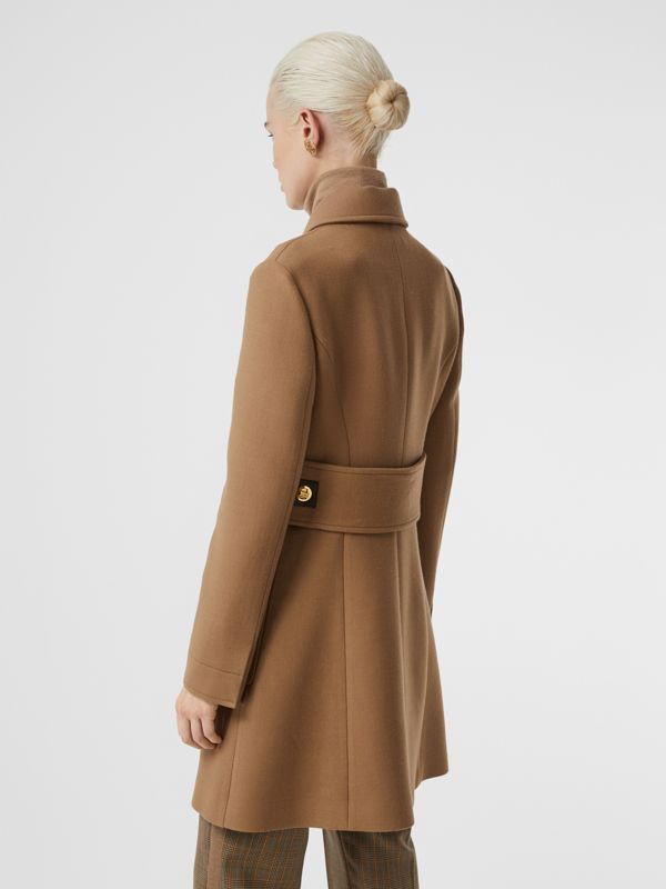 Double-faced Wool Tailored Coat in Fawn - Women | Burberry United Kingdom - cell image 2