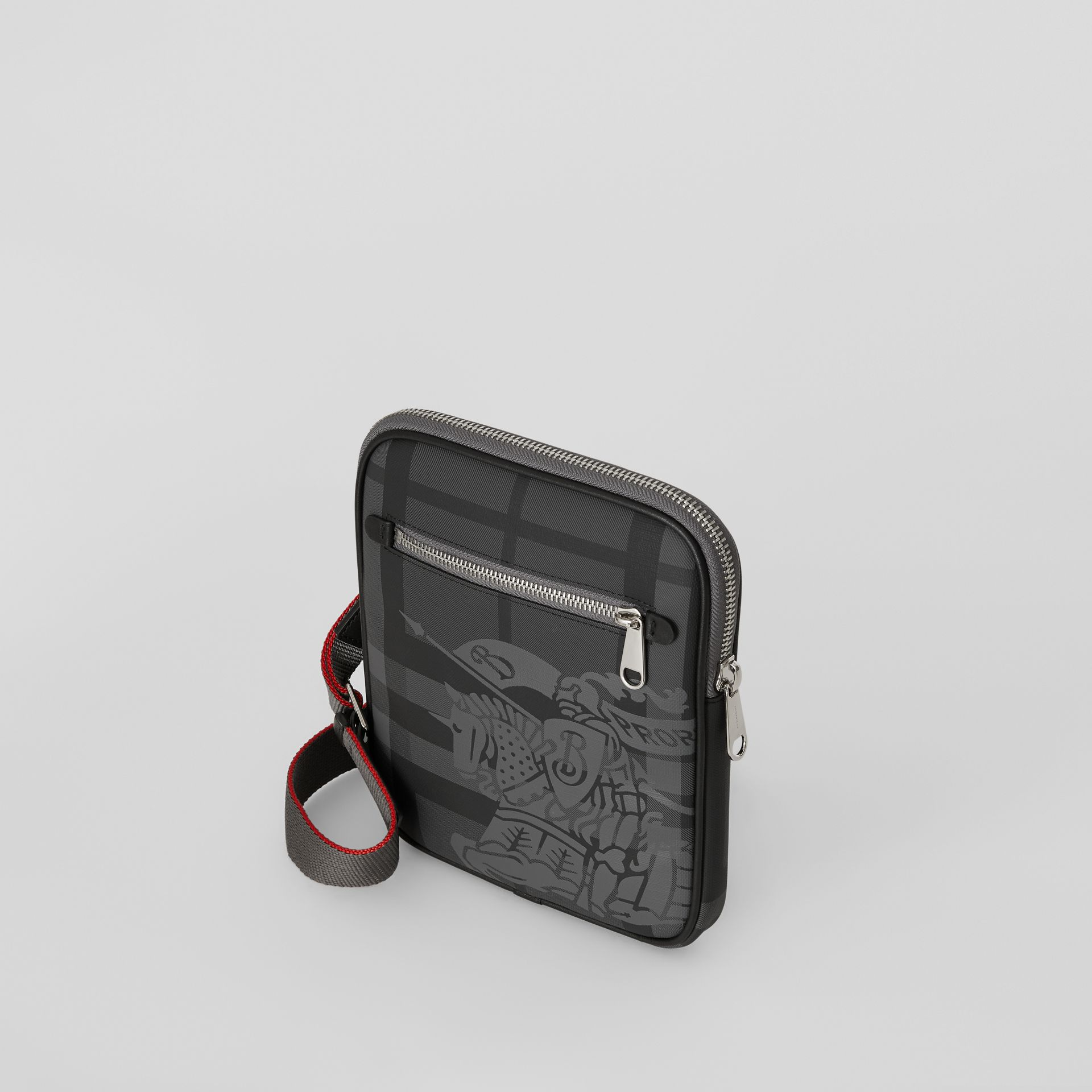 Slim EKD London Check Crossbody Bag in Charcoal/black - Men | Burberry - gallery image 4