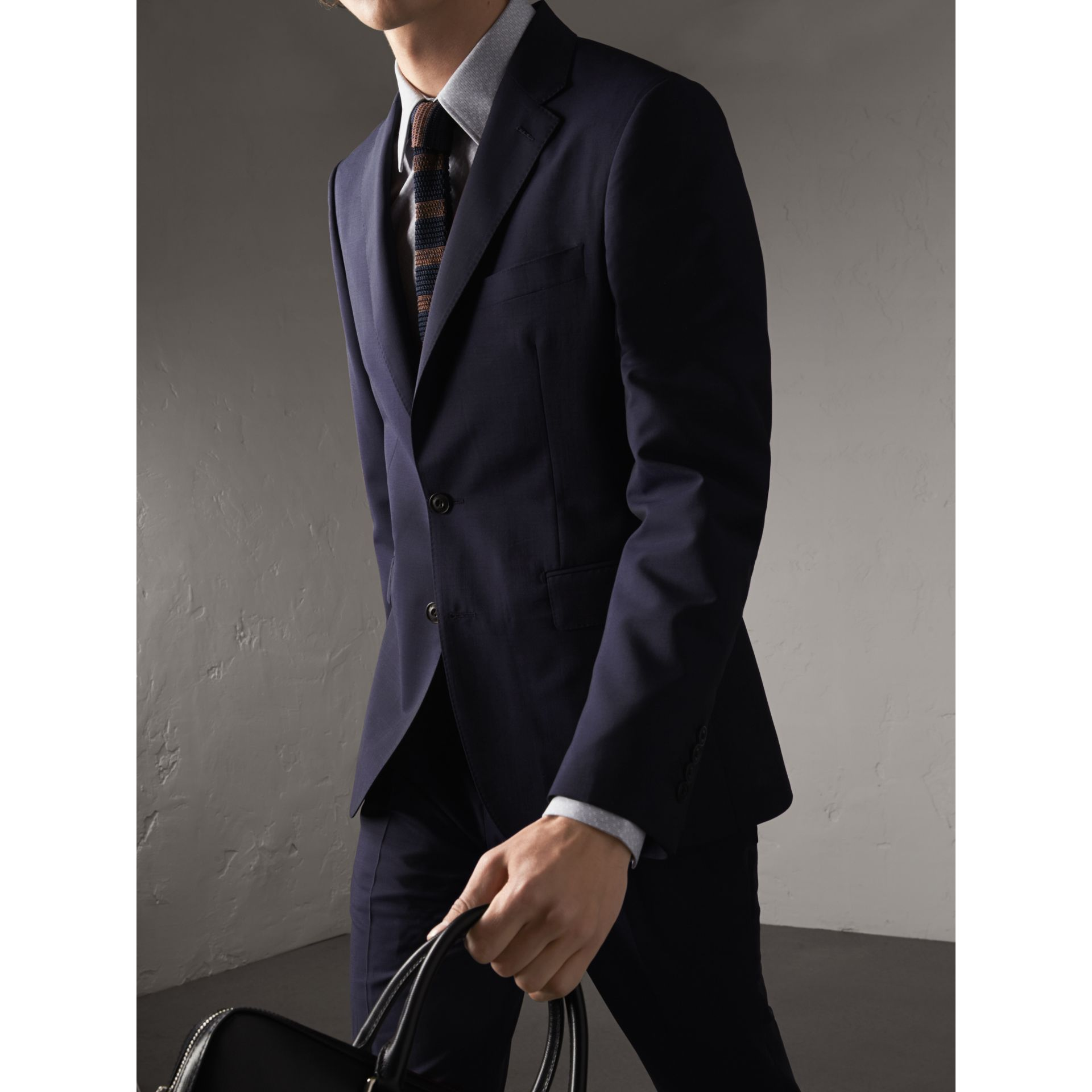 Soho Fit Wool Mohair Suit in Dark Navy - Men | Burberry - gallery image 8