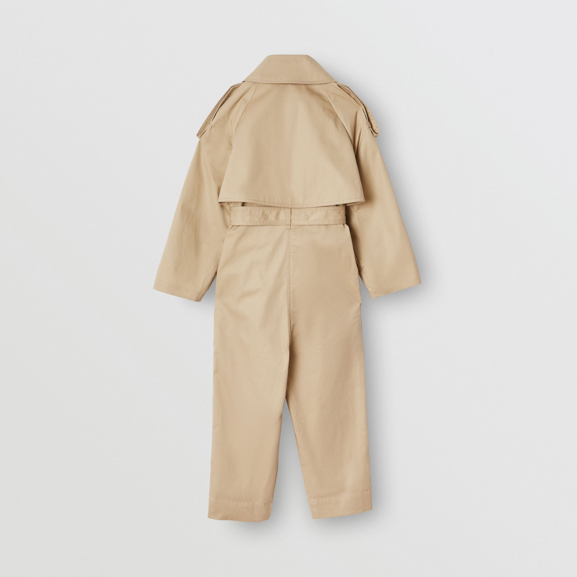 Cotton Trench Jumpsuit in Honey | Burberry - gallery image 4