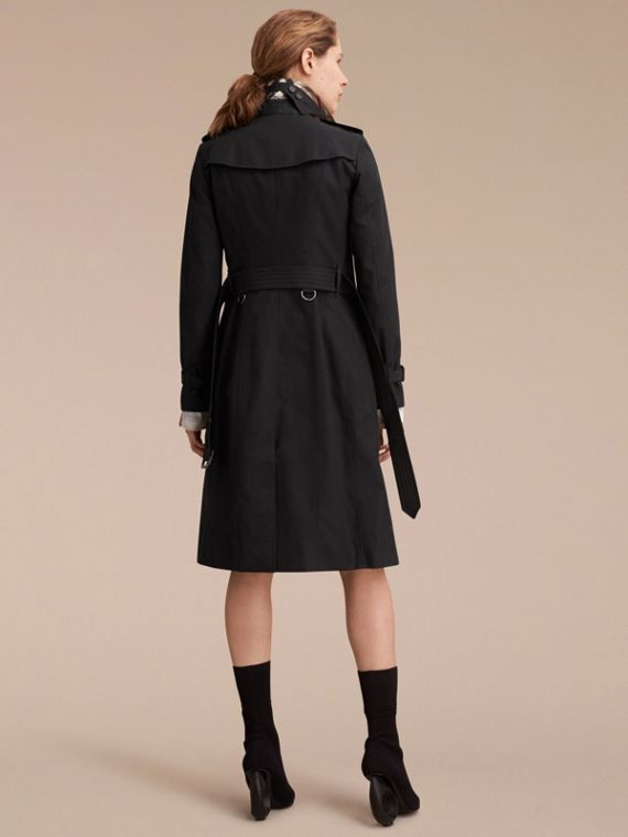 Black The Sandringham – Extra-long Heritage Trench Coat Black - cell image 3