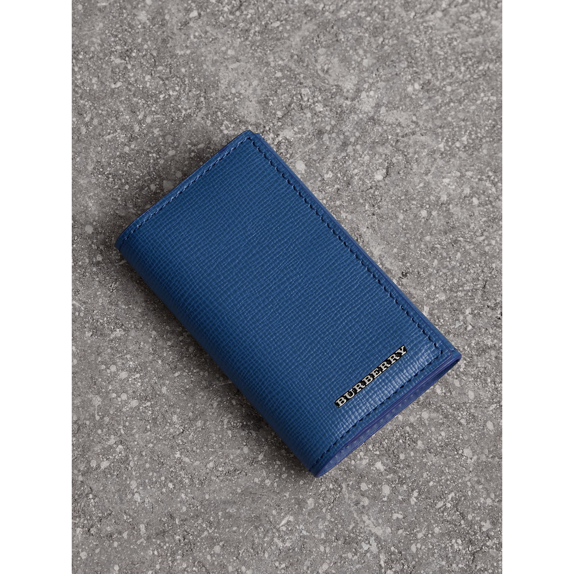 London Leather Key Holder in Deep Blue - Men | Burberry - gallery image 0