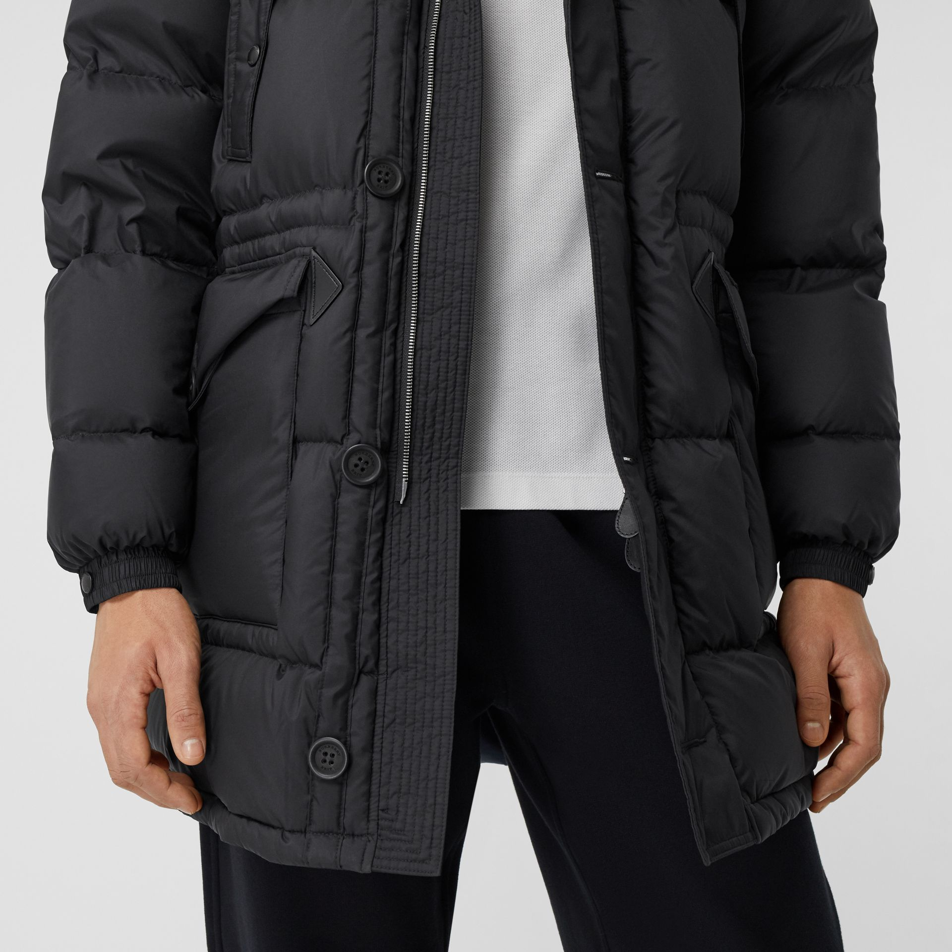 Hooded Puffer Coat in Black - Men | Burberry - gallery image 4