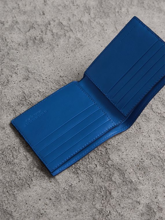 Lizard International Bifold Wallet in Sapphire Blue - Men | Burberry - cell image 3