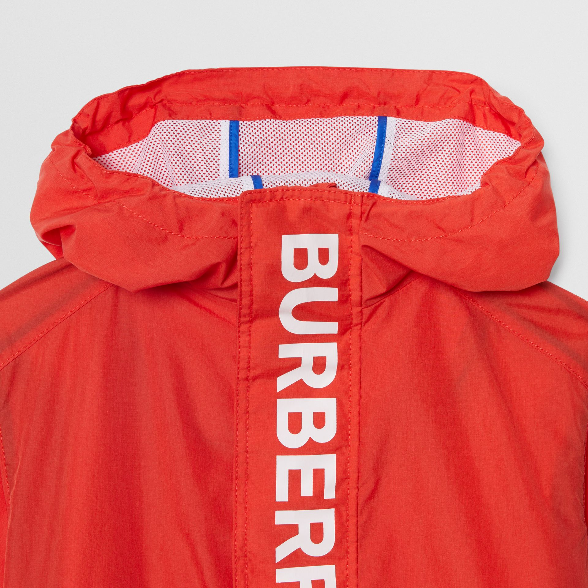 Logo Print Lightweight Hooded Jacket in Orange Red | Burberry Hong Kong - gallery image 5