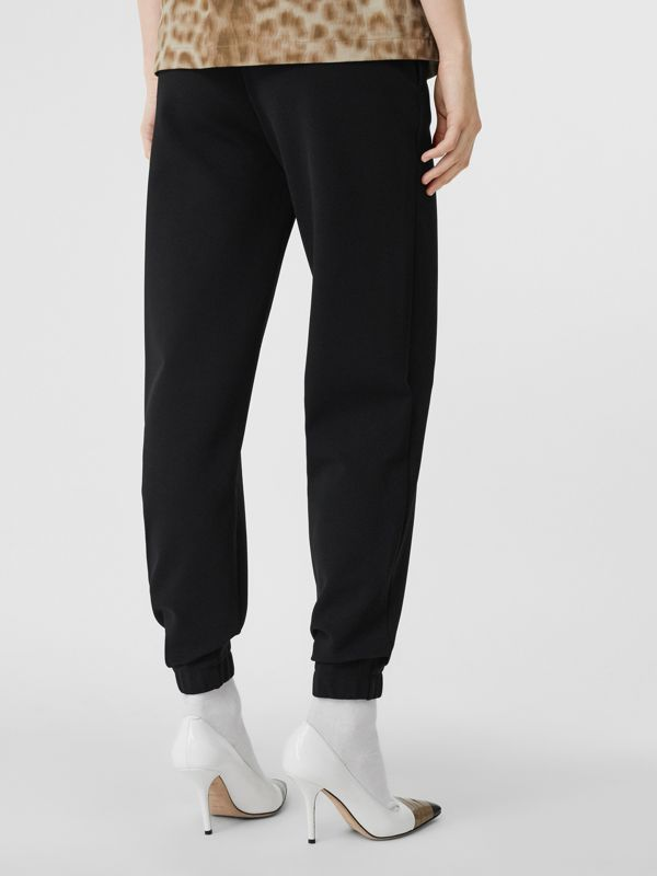 Monogram Motif Technical Trackpants in Black - Women | Burberry United States - cell image 2