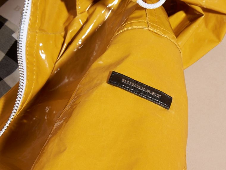 Glossy Showerproof Jacket with Detachable Hood - cell image 1