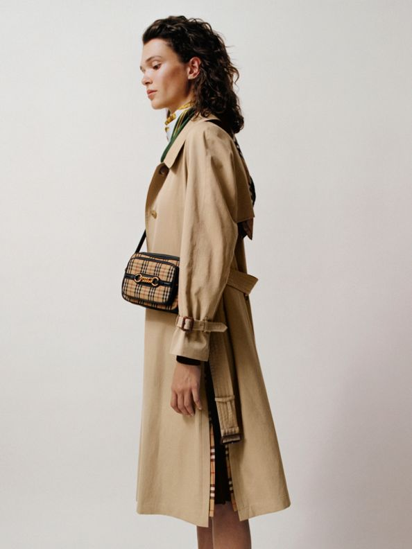 Side-slit Tropical Gabardine Trench Coat in Honey