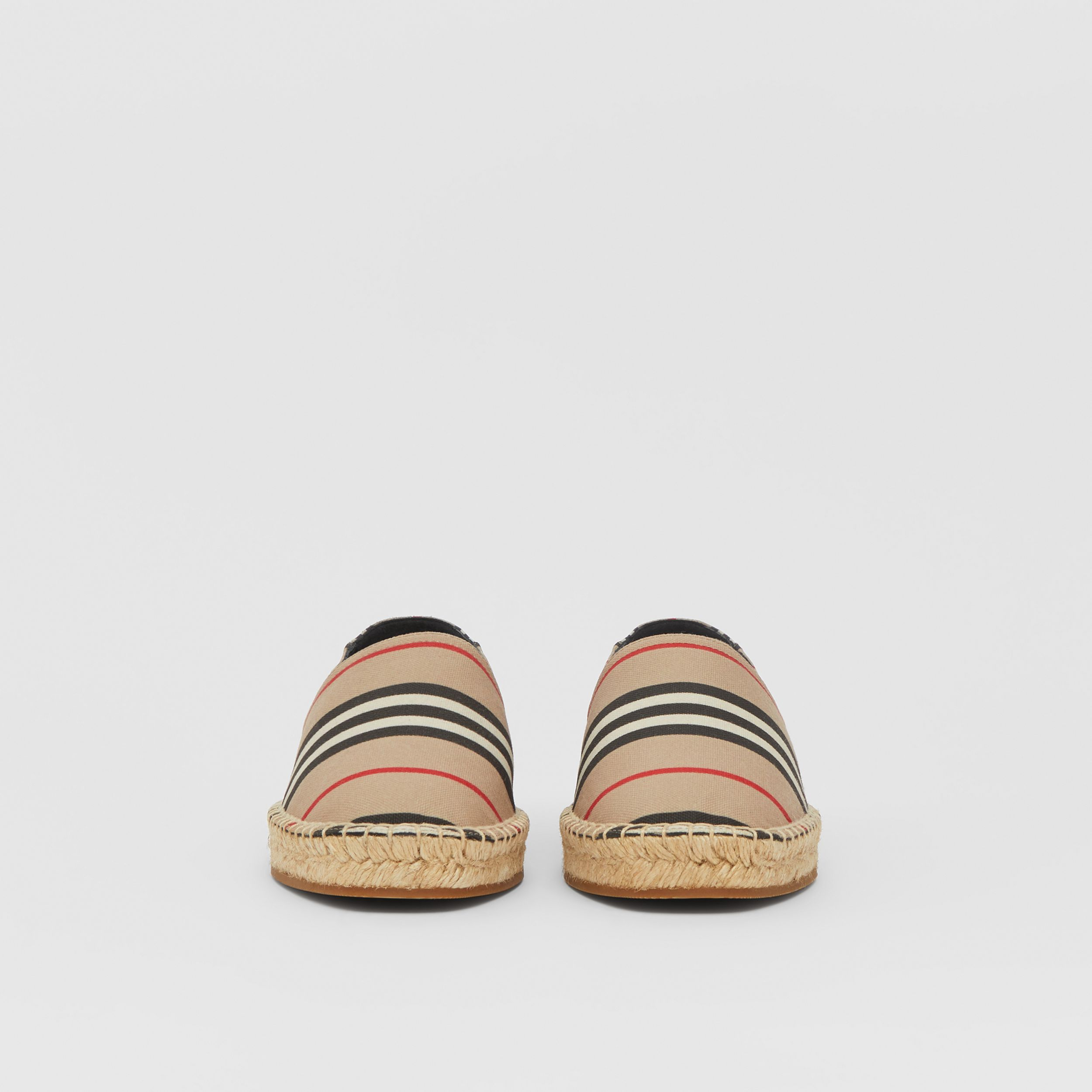 Espadrillas con iconico motivo a righe (Beige Archivio) - Donna | Burberry - 4