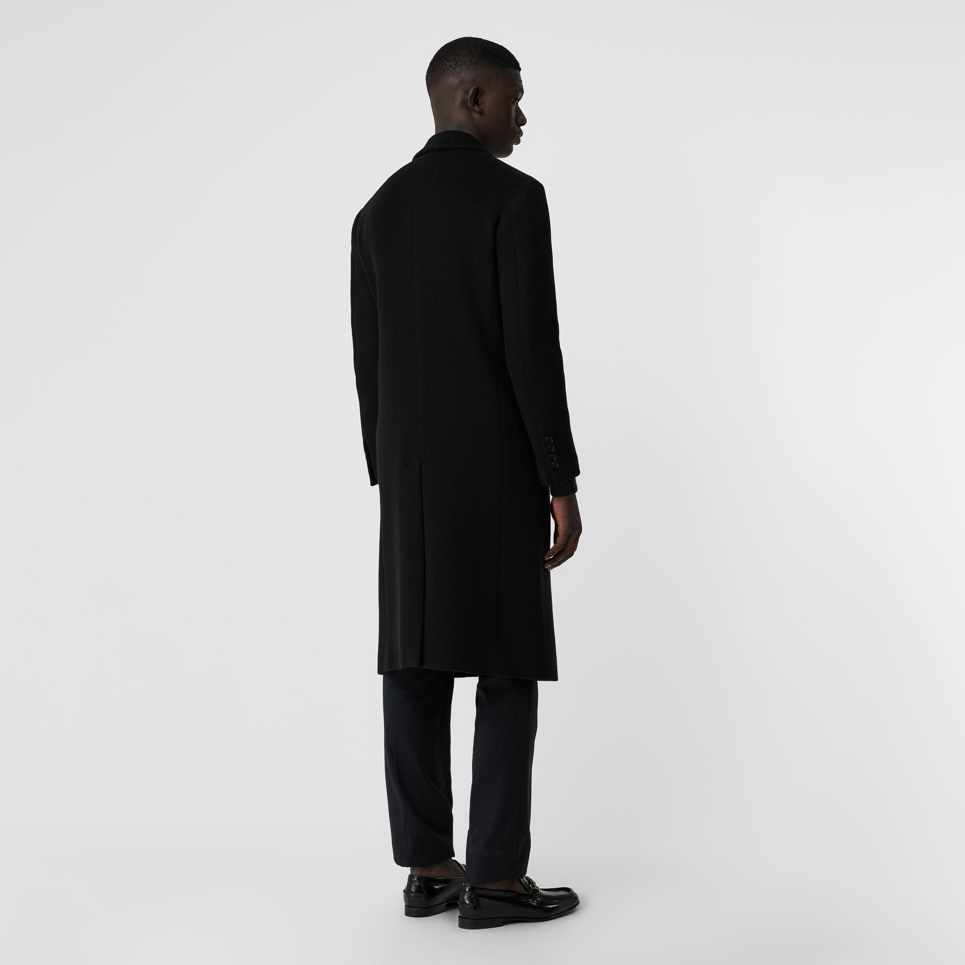 Double-faced Cashmere Tailored Coat in Black - Men | Burberry United Kingdom - gallery image 2