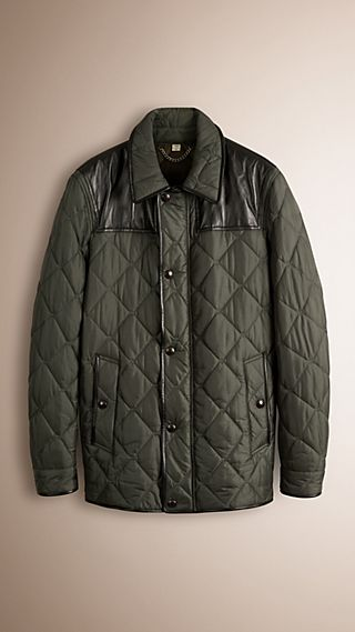 Lambskin Detail Field Jacket