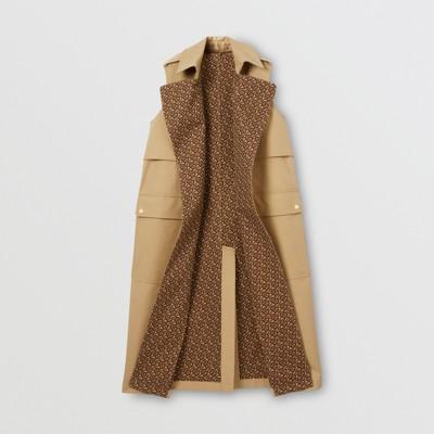 Sleeveless Monogram lined Cotton Trench Coat