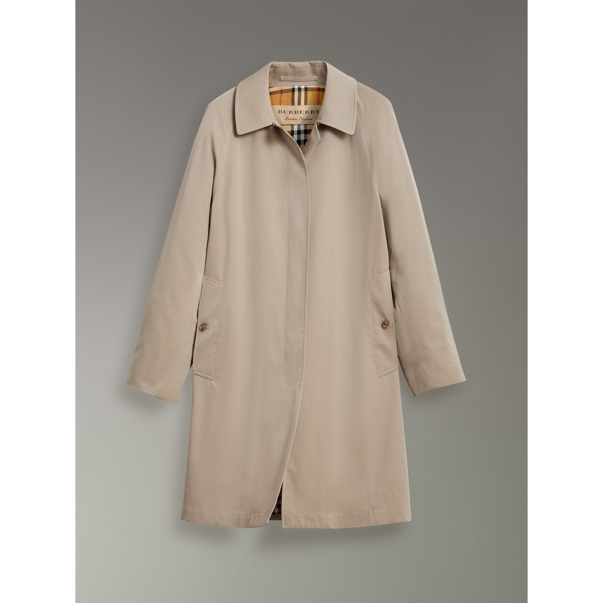 The Camden – Long Car Coat in Sandstone - Women | Burberry Australia - gallery image 3