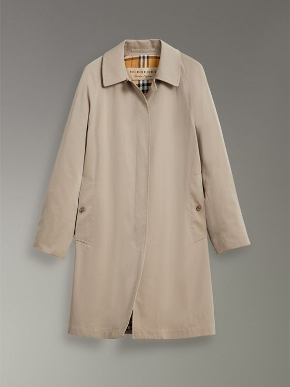 The Camden – Long Car Coat in Sandstone - Women | Burberry Australia - cell image 3