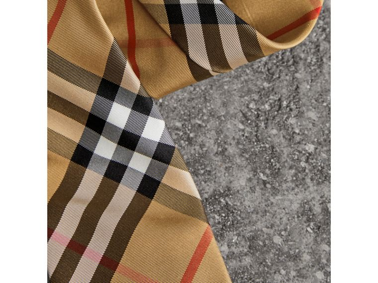 Modern Cut Vintage Check Silk Tie in Antique Yellow - Men | Burberry - cell image 1