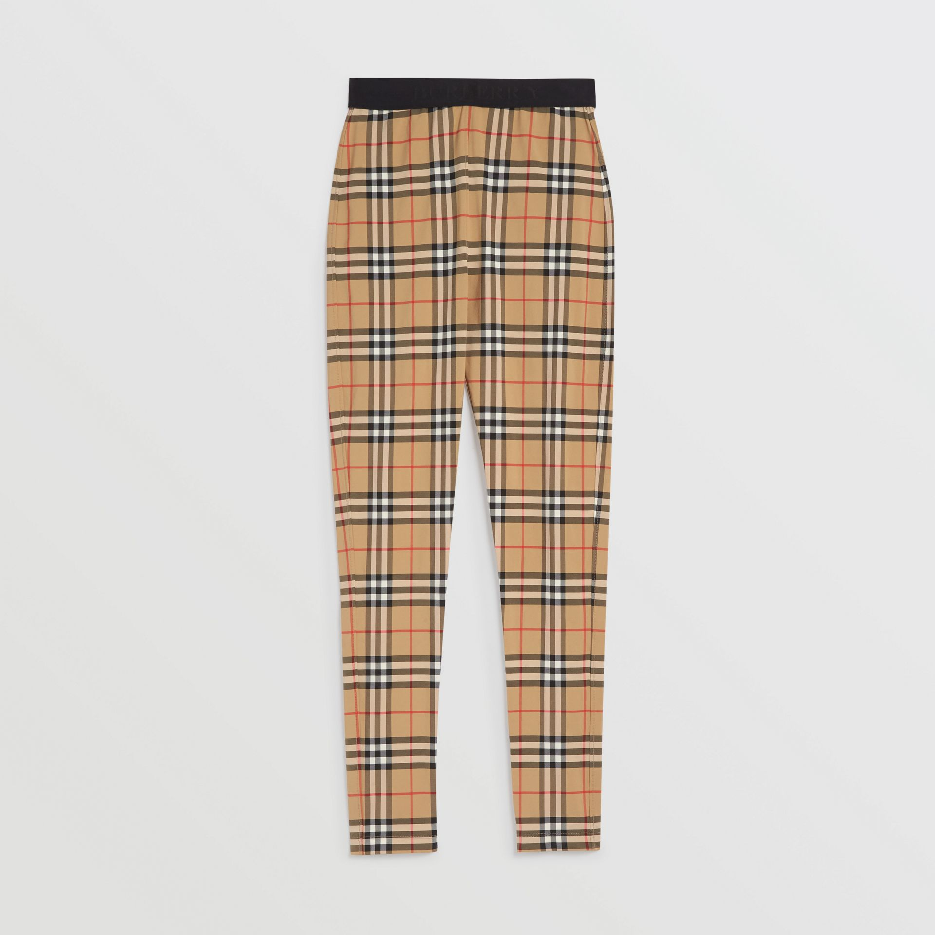 Vintage Check Leggings in Antique Yellow Chk - Women | Burberry United Kingdom - gallery image 3
