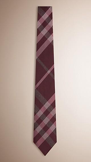 Classic Cut Check Silk Tie