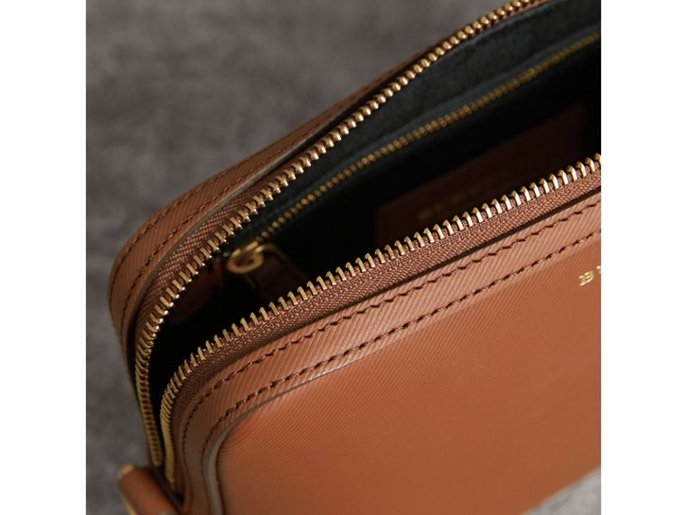 Trench Leather Pouch in Tan - Men | Burberry - cell image 4