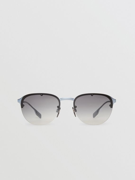 Round Frame Sunglasses in Grey