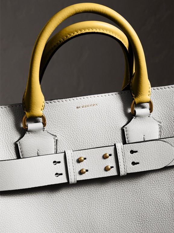 The Large Leather Belt Bag in Chalk White | Burberry Australia - cell image 1