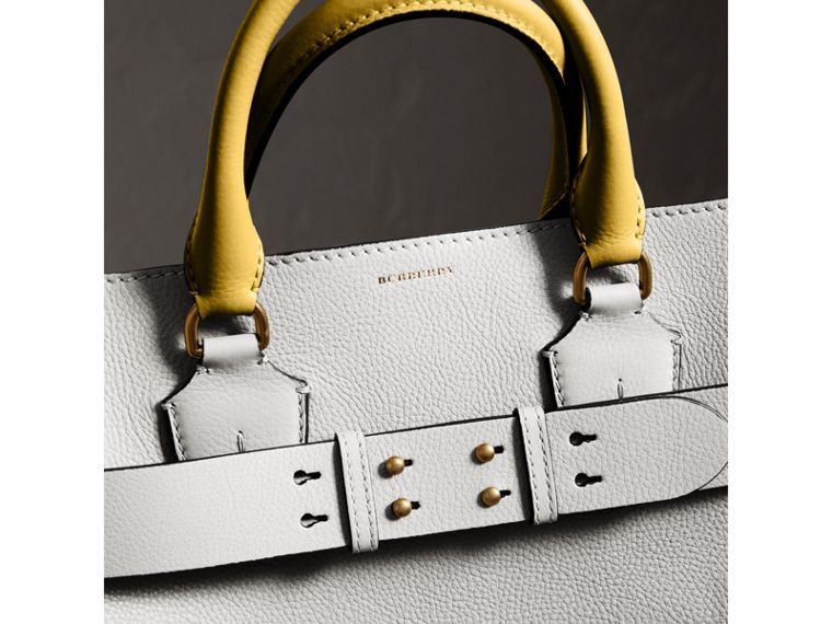 The Large Leather Belt Bag in Chalk White | Burberry Canada - cell image 1