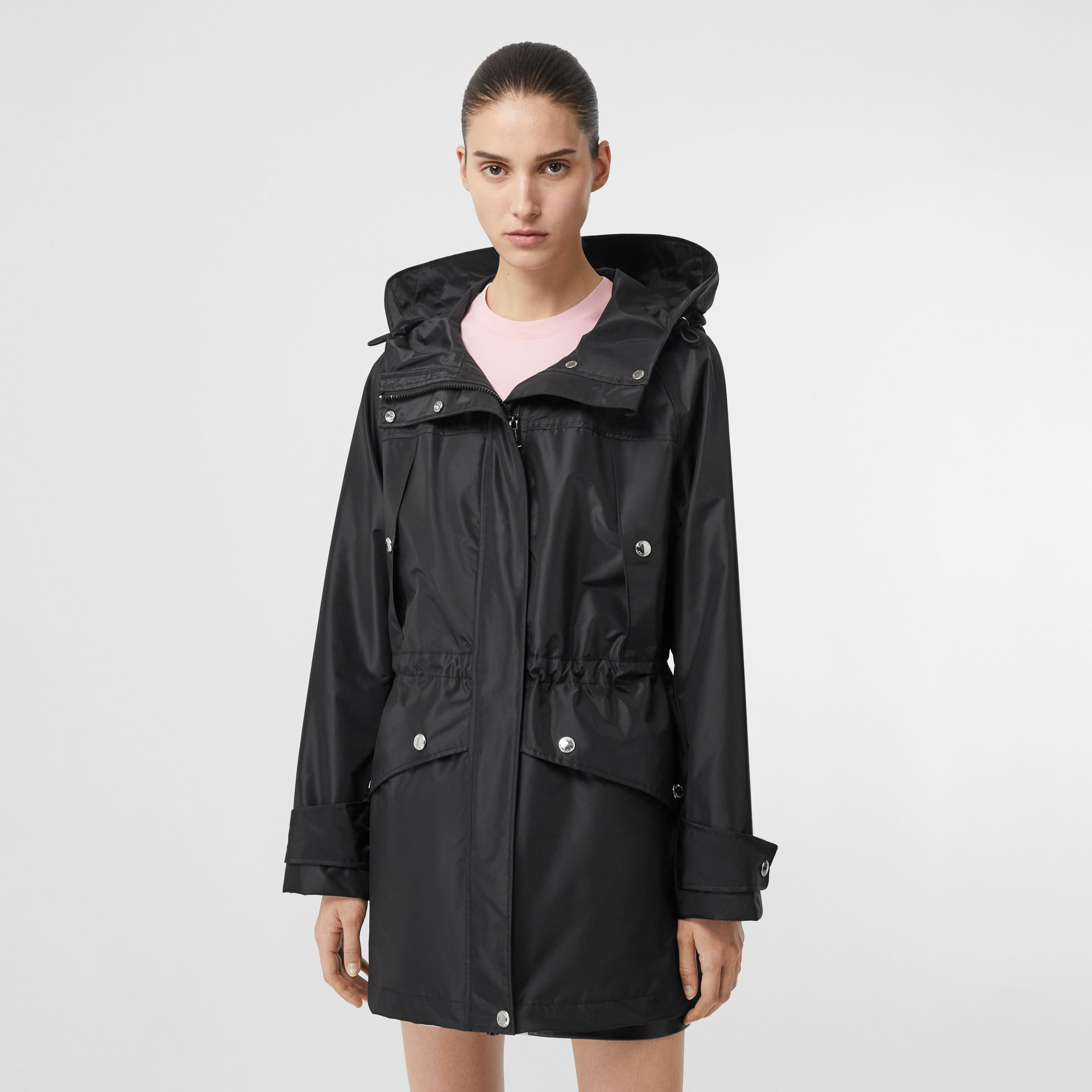 Coated Nylon Hooded Parka with Detachable Gilet in Black - Women | Burberry United States - gallery image 5