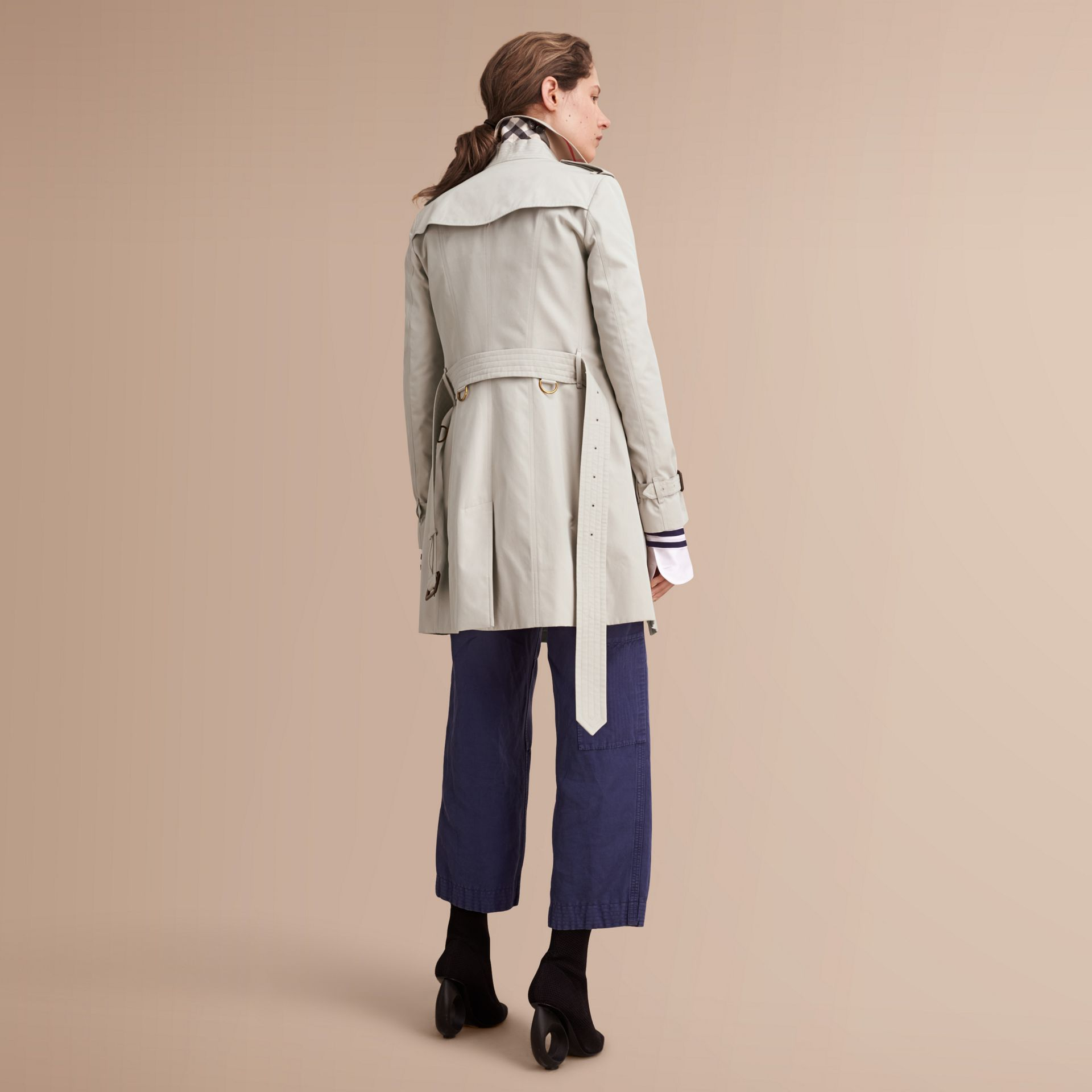 The Sandringham – Mid-Length Heritage Trench Coat in Stone - gallery image 3