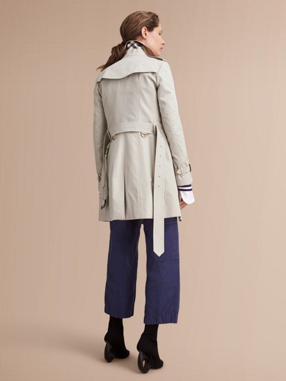 The Sandringham – Mid-Length Heritage Trench Coat in Stone - cell image 2